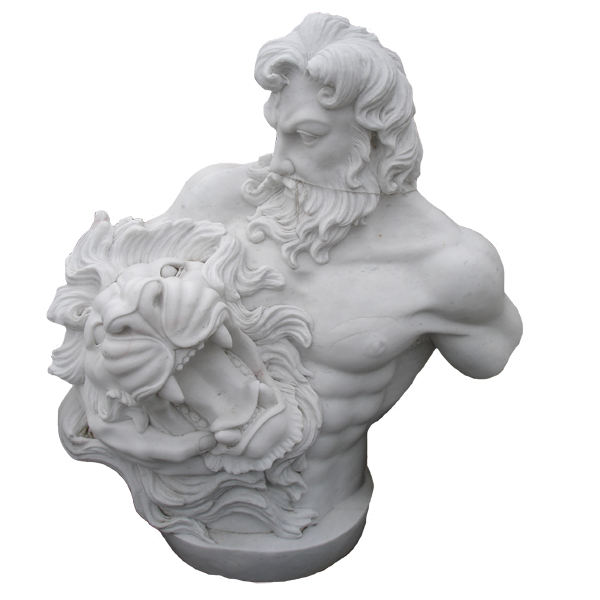 100% hand carved decoration stone sculpture life-size marble lord god Zeus bust statue