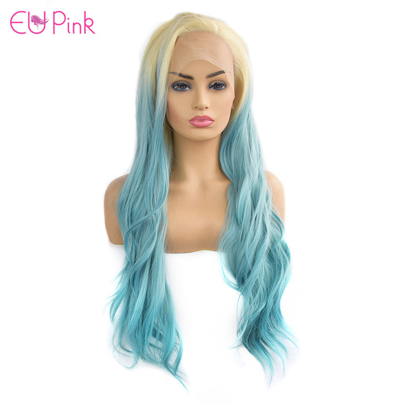 OEM & ODM acceptable different kinds Ombre Colorful High Resistant synthetic very long fiber hair wig For Black Women