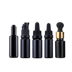 Luxury 30ml Empty Skincare Cosmetic Packaging Essential Oil Serum Dark UV Violet Glass Dropper Bottles With Dropper