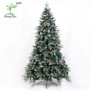 High Quality 7.5 ft Large Frosted Artifical PVC&PE Christmas Tree for Out Door Decor