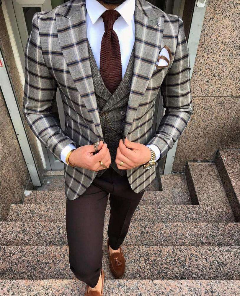 New Fashion Business Hoge Kwaliteit Slim Fit Mannen Pak