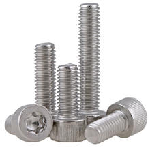 A2 A4 stainless steel SS304 SS316 torx socket head cap screw