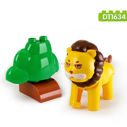 3 PCS Lion New Style Educational ABS Plastic Building Block Toys With Animal World Large Size