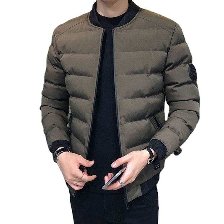 Light Weight Puffer Jacket Mens Slim Fit Winter Jacket For Men Casual