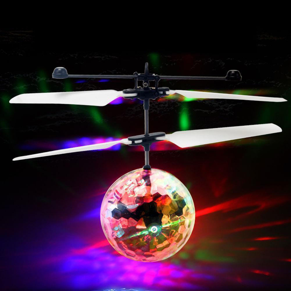 Flying Toy Ball Infrared Induction Remote Control Toys Ball With LED Light Disco Helicopter rc ufo flying disco ball toy