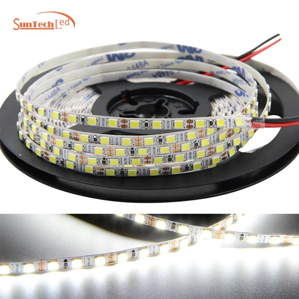 High Qualityホット12v 4ミリメートル6000 18k ip65 2835 120led/M Waterproof Flexiblewh ite Smd Led Strip Lights