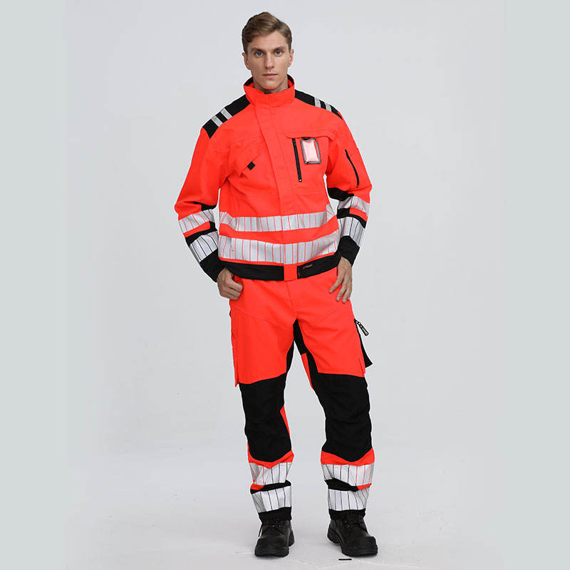 New Cotton Hi Vis Welding Work Clothes With Safety Reflective