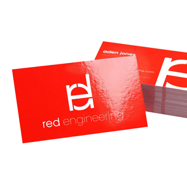 Custom Gloss Lamination Coated Namecard Business Cards Printing for Biz