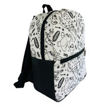 Green washable paper student backpack manufacturer LOGO customized