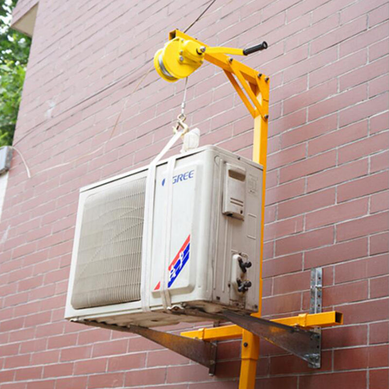 Lifting air conditioning installation hoisting bracket crane