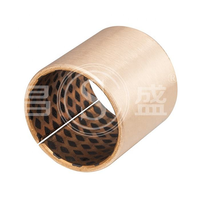 Graphite Lubricated Bronze Wrapped Bushing CuSn8 Solid Bronze Bearing Oilless Bushes
