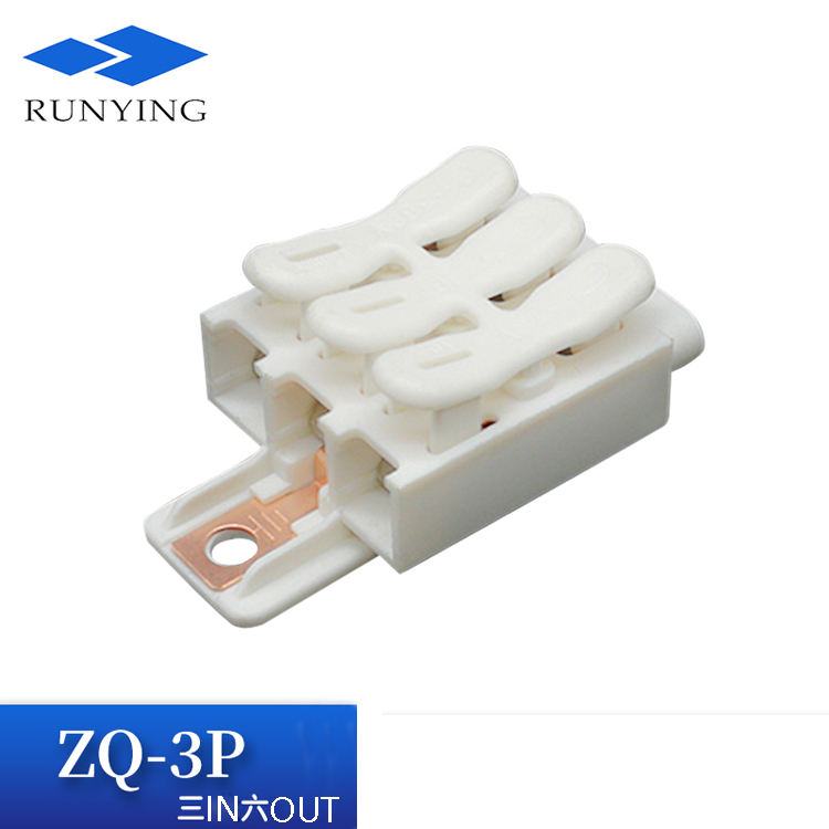 3 Pole Nirsekrup Push Di Tanah Kabel Terminal Block Lighting Kawat Earthing Switch