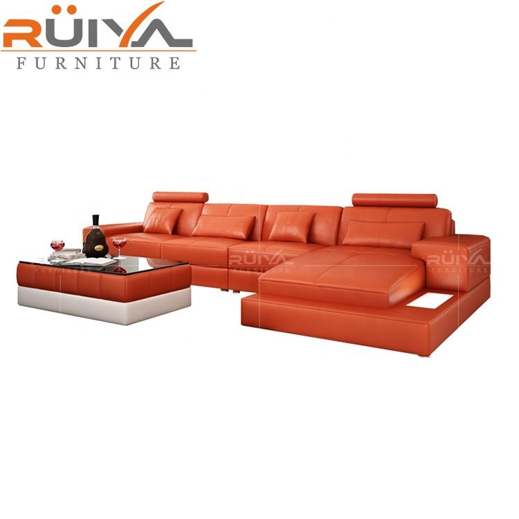 American style most popular sectional upholstery living room sofa with LED Light