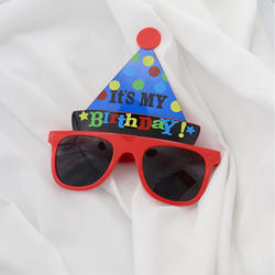 Birthday hat Sunglasses party props decoration Festival Party Revel Party Prom Glasses funny decoration glasses