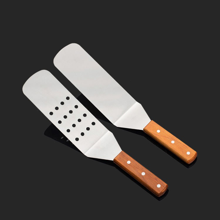 Stainless Steel Cake Pizza Shovel Kitchen Supply Pizza Tool Food Grade Wooden Handle Spatula Turner