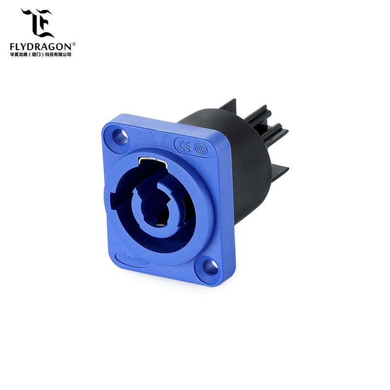 Popular pantalla LED IP67 hembra de montaje en Panel, azul Powercorn conector Speakon