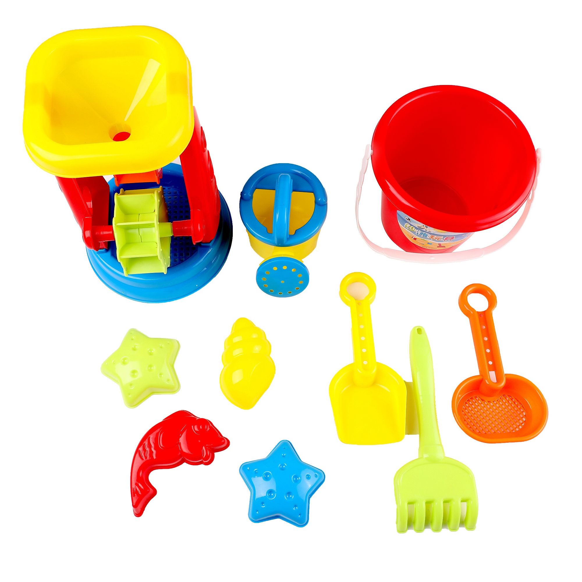 Children's beach toy suit bucket hourglass Large Sand Scoop baby playing with sand tools