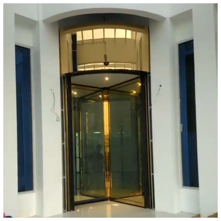 Customized selling three or four wing automatic revolving door for hotel airport and shopping mall