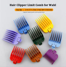 Whosale Professional 8 Size Magnetic Barber Gurds Comb Guides Hair Clipper Limit Comb for Wahl Trimmer