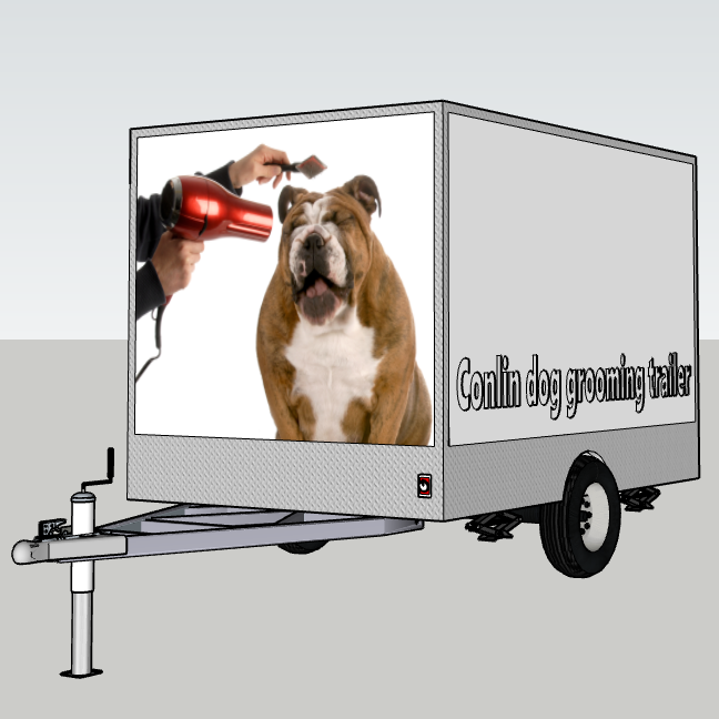 Dubai mobile dog grooming trailer truck dog wash station industrial
