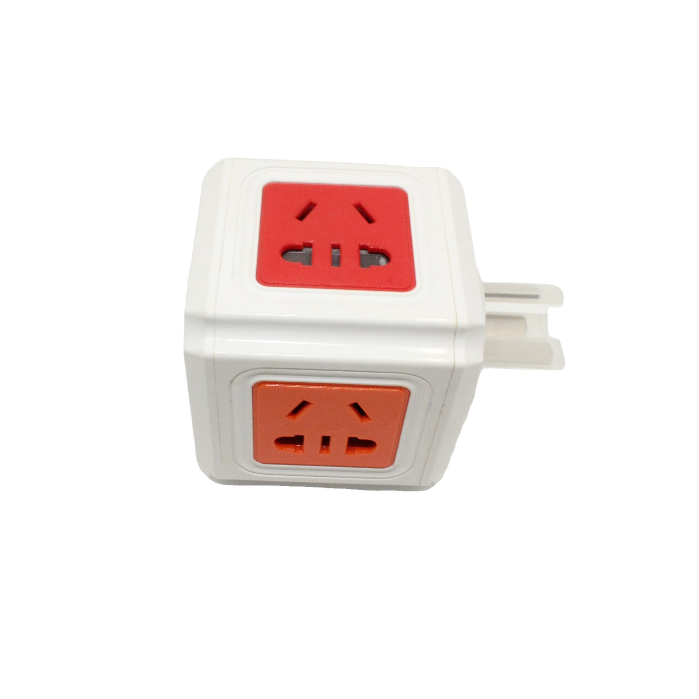 Small Rubik's Cube Socket USB Socket Multi-Port with Type-C Port Plug Row Multi-Functional Plug Strip