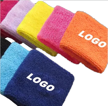Comfortable tennis breathable carpal tunnel guard towel sweatband wrist bands