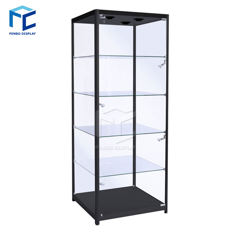Mirror back Glass jewelry display cabinet
