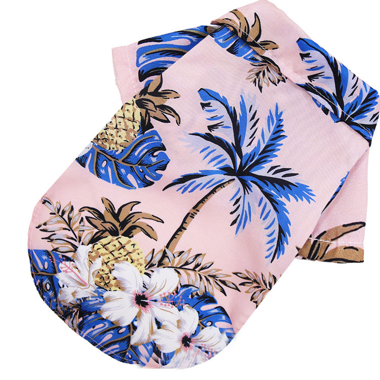 Clothes For Medium Dogs Hawaiian Style Cotton Printed Pet T-Shirt Dog Clothes Summer For Small Medium Dogs Cats