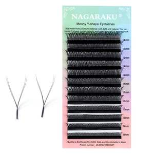 NAGARAKU YY Shaped Eyelash Extensions Weaving Effect Synthetic Mink False Eyelashes