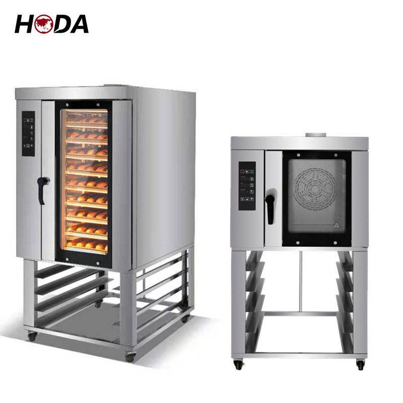 5 6 8 10 trays layer rotary rotating fan convection oven electronically controlled hot air baking cakes with steam generator R&M