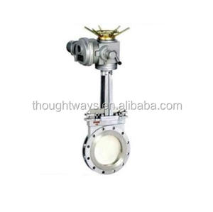 Factory provide flanged knife gate valve electric stainless steel gate valve