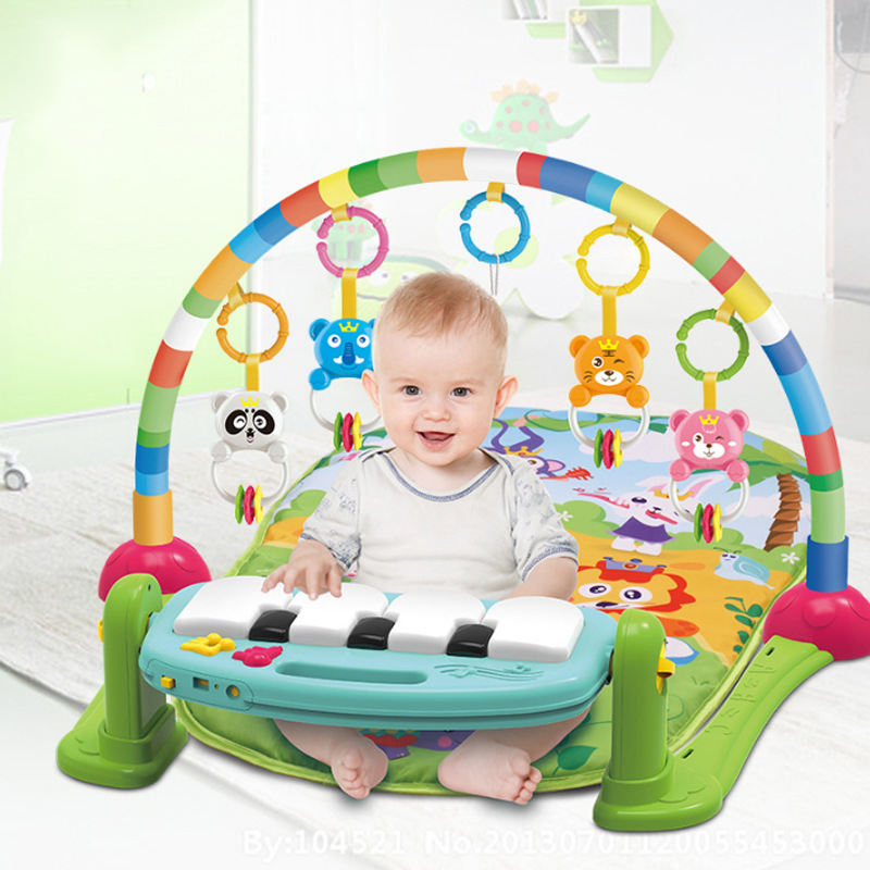 Musical Baby Toy Baby Toy JOE'S TOUCH Best Gift Multi Function Musical Piano Mirror Activity Gym Playmat Newborn Infant Toddler Baby Toy