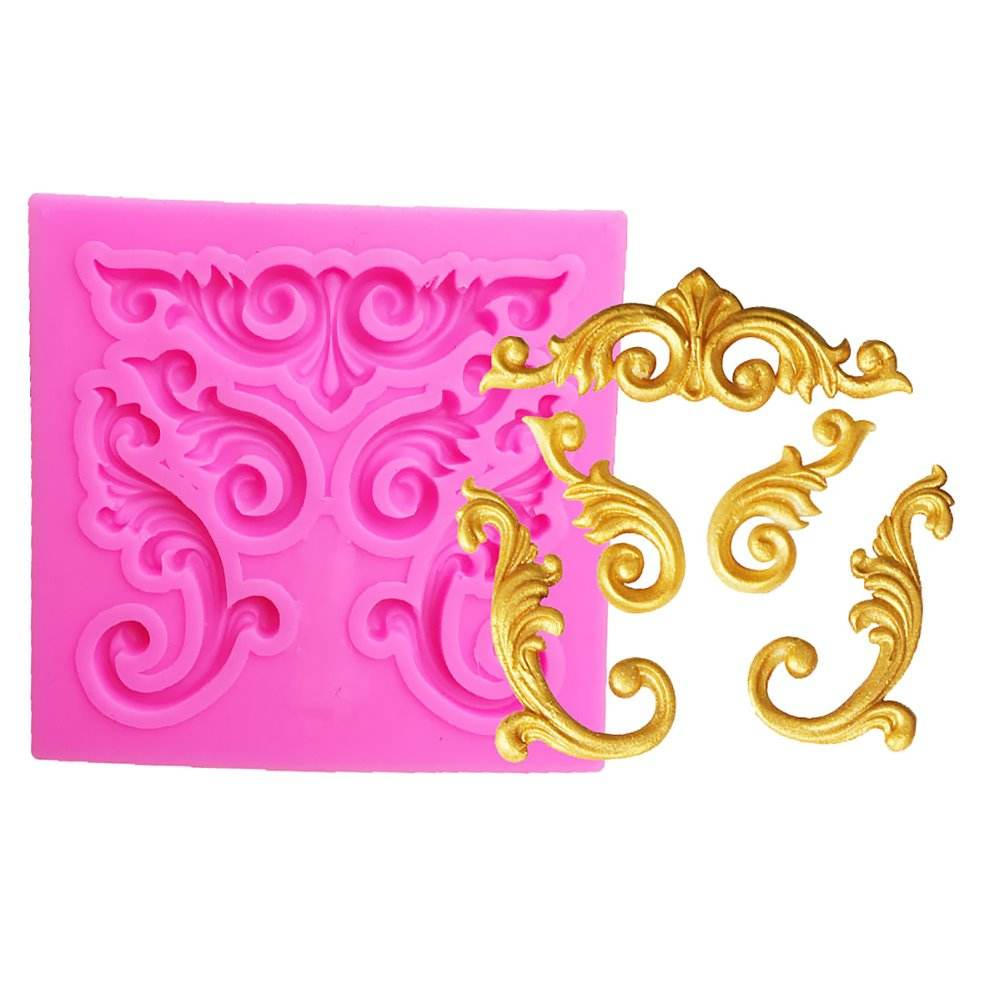 Relief Shape 3D Craft Relief Chocolate Confectionery Silicone Mold Fondant Cake Kitchen Decorating DIY Tool