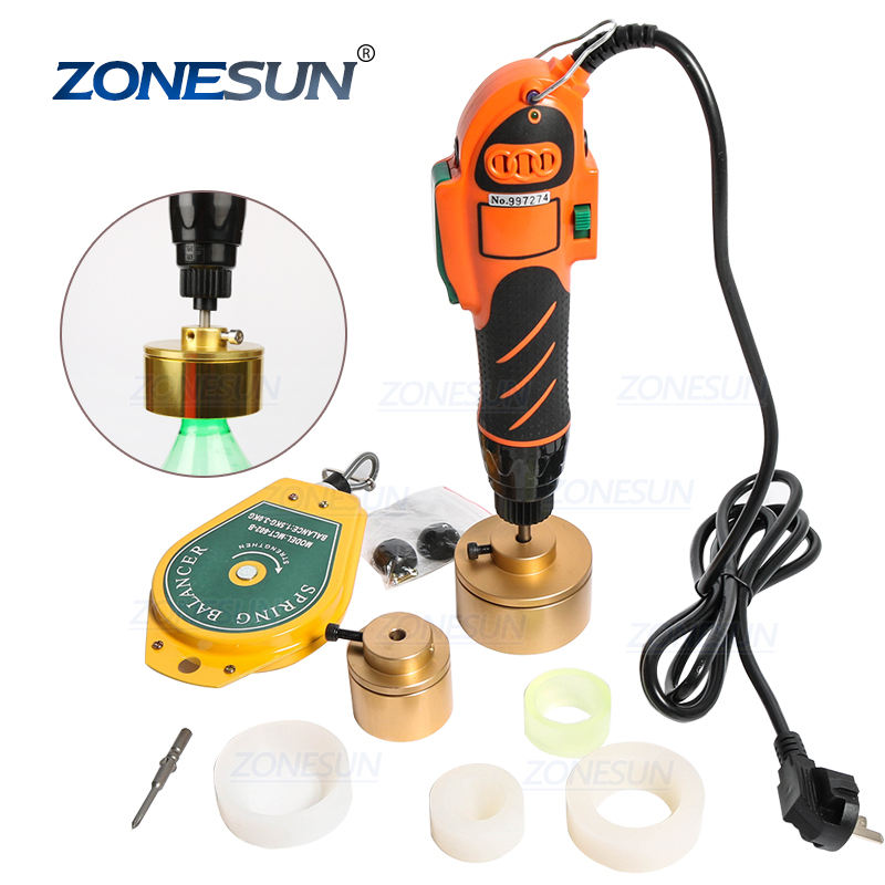 ZONESUN Hand Held Bottle Capping Tool Plastic Bottle Capping Machine Manual Capper( 64kg/fcm)