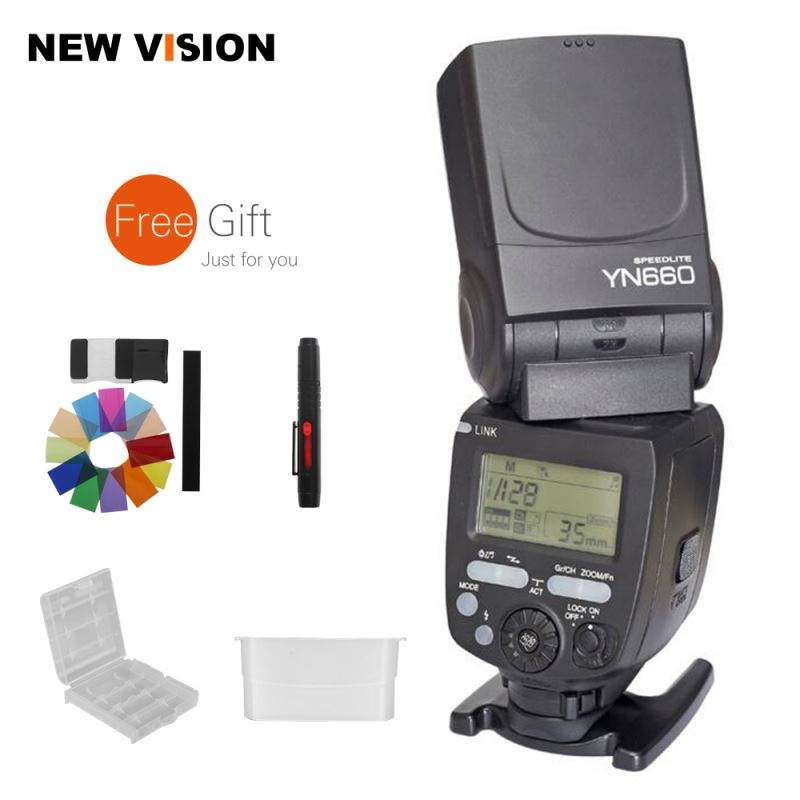 MagicVision YONGNUO YN660 Wireless Flash Speedlite GN66 2.4G Wireless Radio Master+ Slave for Canon Nikon Pentax Olympus