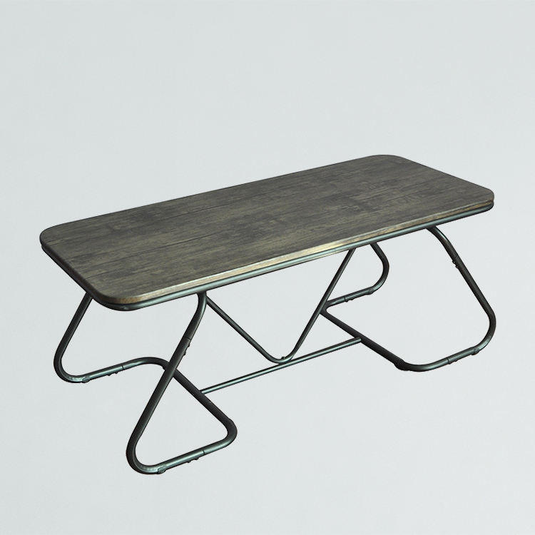 Modern MDF wooden metal leg cheap center coffee table with powder coated