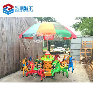 Newest Design Little Kids Amusement Rides Plastic Carousel Swing Machine Power Flying Fish Ride