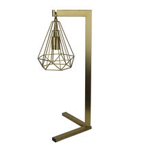 Brass table lamp, metal living room lamp