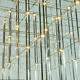 Hotel Modern Large Decorative Crystal Pendant Light Projector Lamp Luxury LED Crystal Chandelier