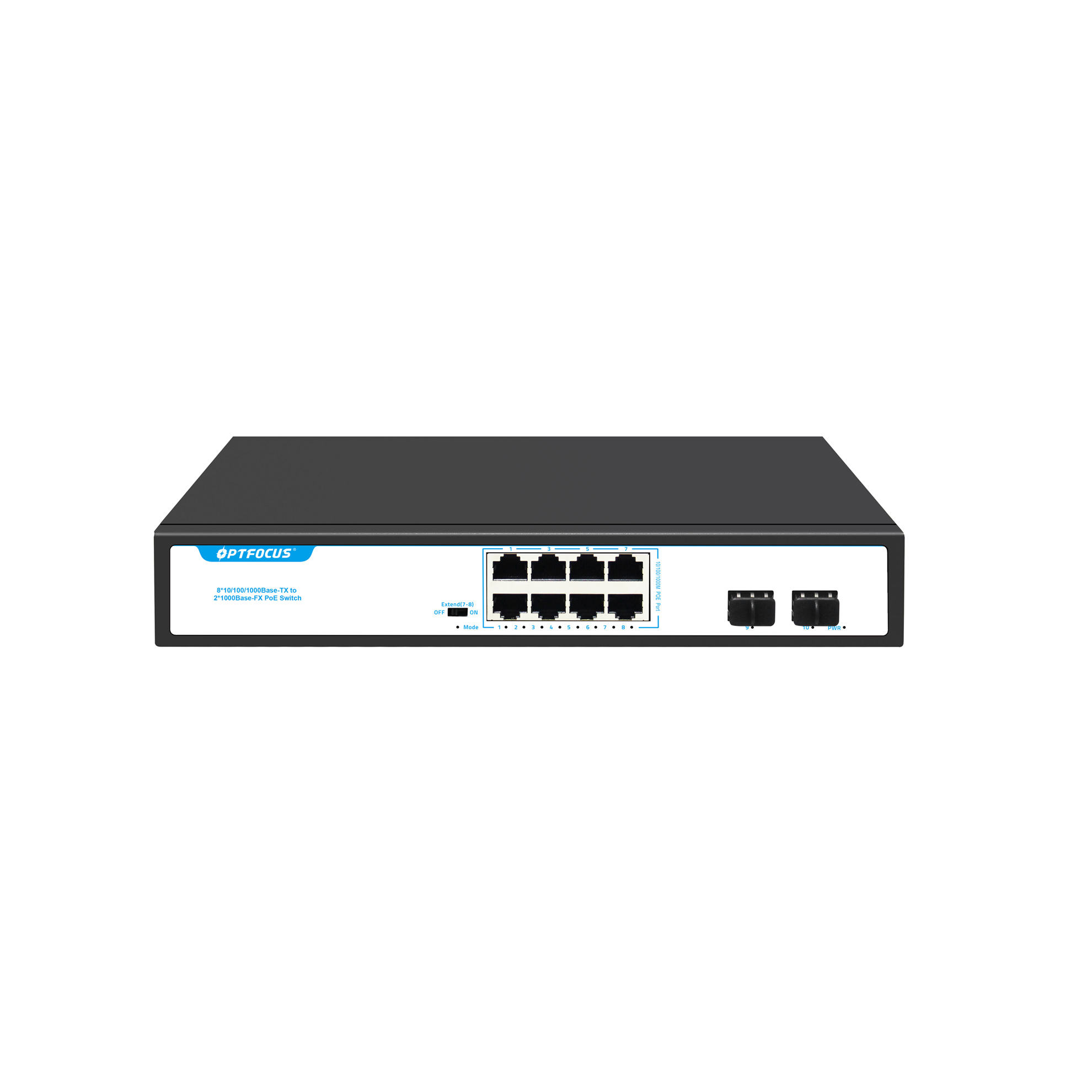 High Quality with 2 Gigabit SFP Slots 10 port poe d link onv poe switch network