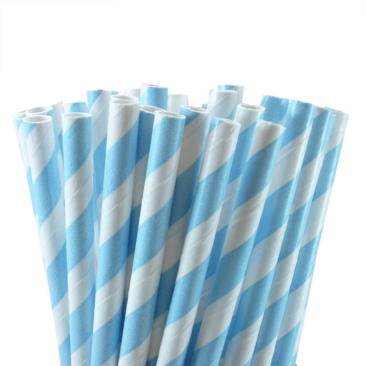 Guangzhou biodegradable straw amazon hot sale light blue stripes straws