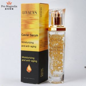 Private Label skin care natural 24k Gold Anti Aging face extract Caviar Serum