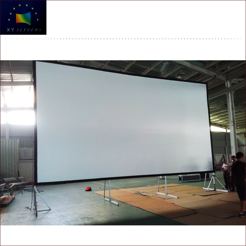"XYScreen 150"" Outdoor movie theater mobile quickly fast fold projector screen"