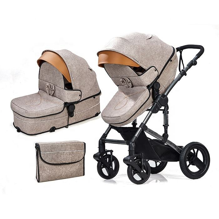 Popular Luxury prams 2020 hot selling baby stroller 3 in 1 babies strollers best qualities baby strollers walkers carriers