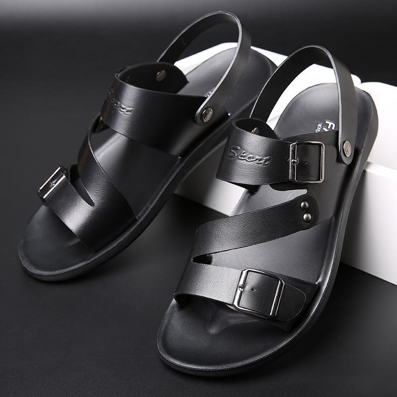 Dropshipping New Design Leisure Sandals Men Brand Durable Sandal Turkey Leather Sandal Fashion