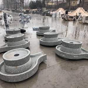 Factory cheap price antique garden decoration granite mill fountain stone table old millstones for sale