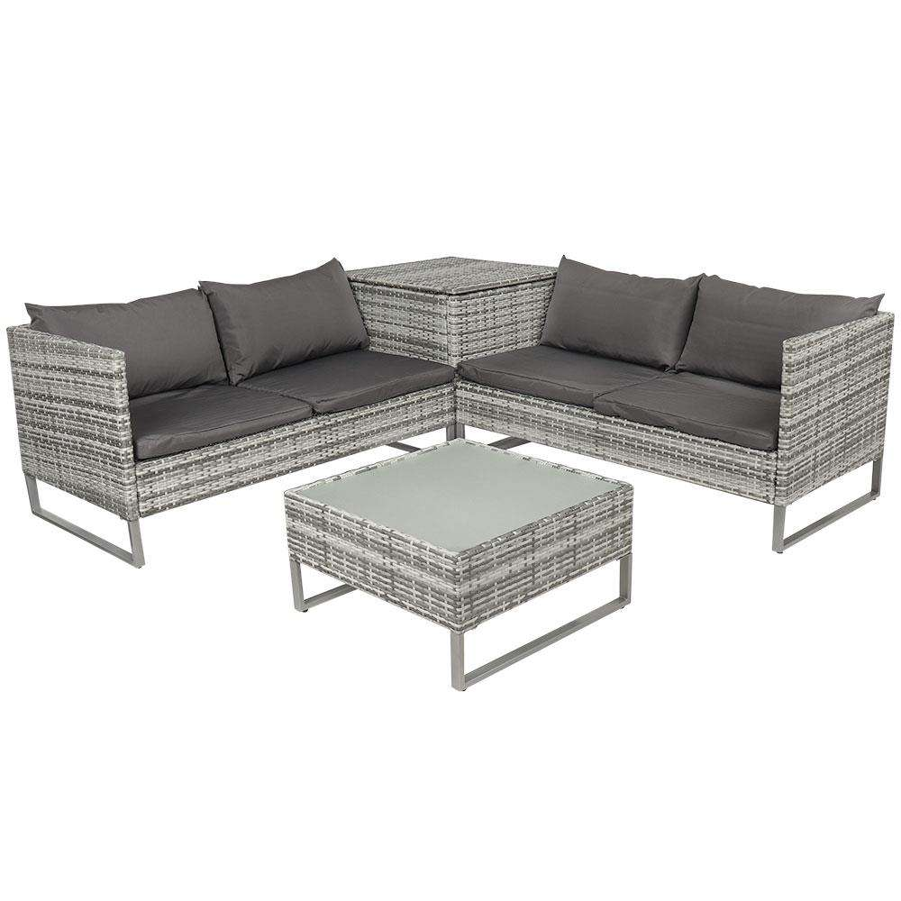 New Design Outdoor Plastic Rattan Furniture Garden Table Dining Set
