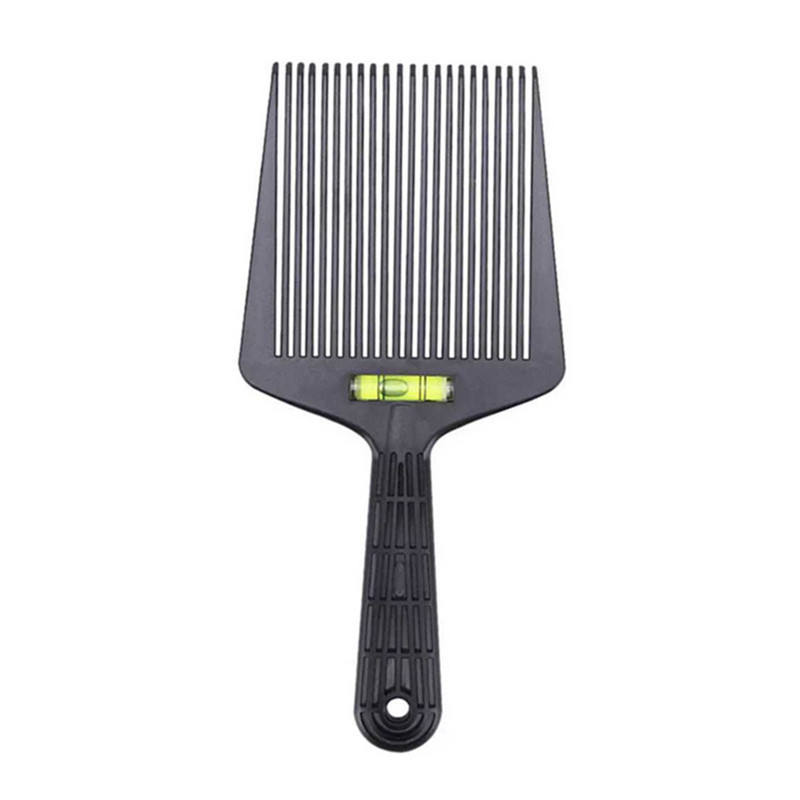 Men's professional hairdressing supplies teaching aids spirit level retro oil head hair clipper auxiliary flat hair comb