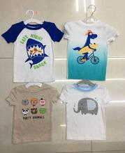 6m-5y kids light carton T-shirt printed Stock baby clothes stock