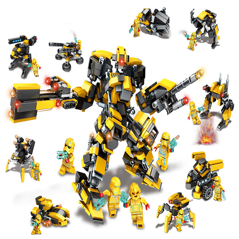 9 in 1 Small Size Box Promotion And Collection Super Hero Building Blocks Bumblebees Brick Toy